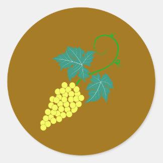 Grapes vine grapes grapevine classic round sticker