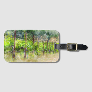 Grapes Vines in Spring in Napa Valley California Luggage Tag