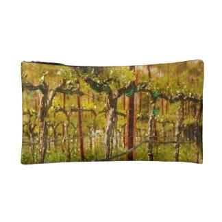 Grapes Vines in Vineyard during Spring Makeup Bag