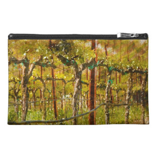 Grapes Vines in Vineyard during Spring Travel Accessory Bag