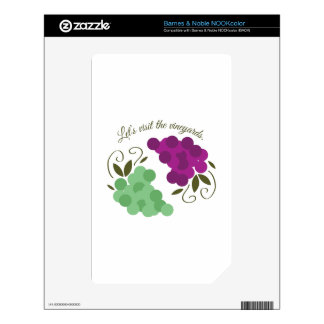 Grapes_Vineyards Decals For NOOK Color
