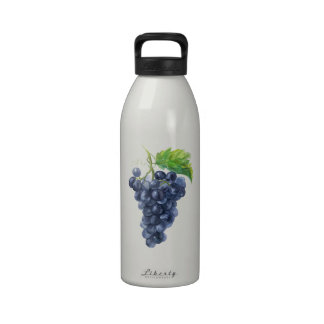 Grapes. Watercolor. Water Bottle