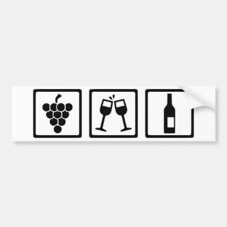 Grapes wine glasses bottle bumper sticker