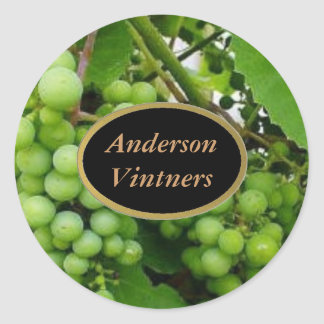 Grapes Wine Labels Stickers