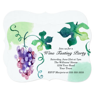 Grapes Wine Tasting Party Card