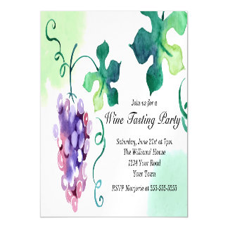 Grapes Wine Tasting Party Magnetic Card