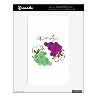 Grapes_WineLover NOOK Color Decals
