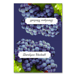 Grapes Winery / Vineyard Wedding Tented Place Card