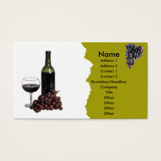 Grapes with Red Wine Business Card