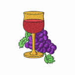 Grapes with Wine Embroidered Shirt