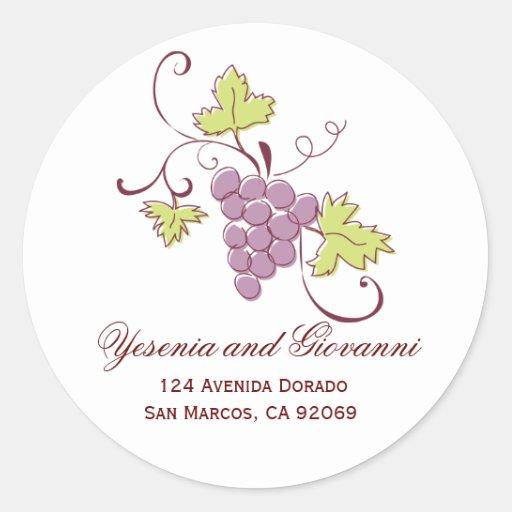 Grapevine Address Labels Sticker