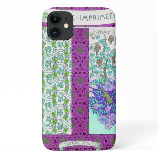 Grapevine and flowers iPhone 11 case
