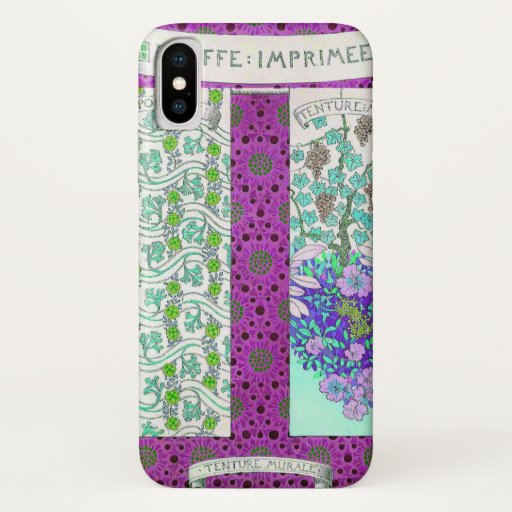 Grapevine and flowers iPhone x case