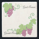 "Grapevine Coaster<br><div class=""desc"">The classic vintage appeal make these coasters a great item.  Two custom text boxes will makes these a treasured gift that will endure.</div>"