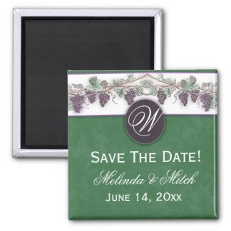 Grapevine design for wine lovers 2 inch square magnet