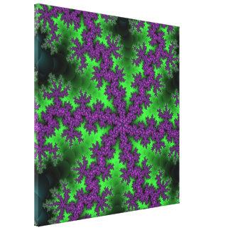 Grapevine Fractal Stretched Canvas