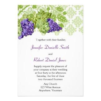 Grapevine Garden Wedding Invitation