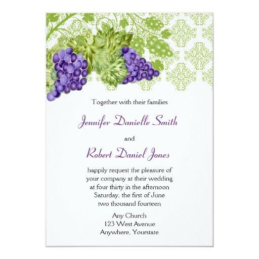 Grapevine Garden Wedding Invitation Zazzle