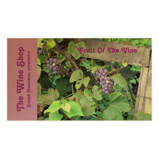 """""""Grapevine, Grapes, Fence"""" (photog.) Customizable Business Cards"""