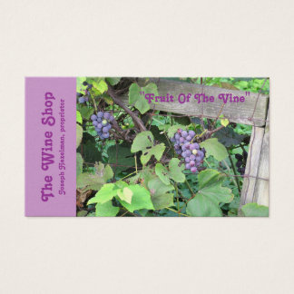 """""""Grapevine, Grapes, Fence"""" (photog.) Customizable Business Card"""