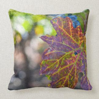 Grapevine in the Autumn Season Throw Pillow