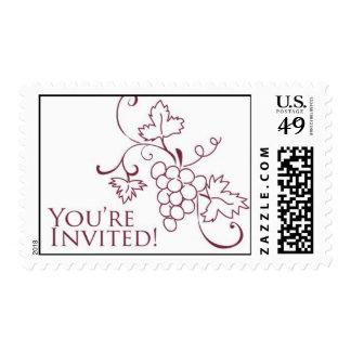 Grapevine Invitation Stamp