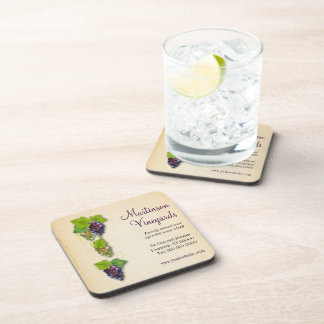 Grapevine Promotional Cork Coaster