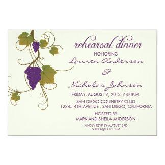 Grapevine Rehearsal Dinner 5x7 Paper Invitation Card