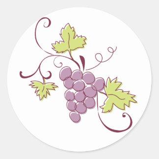 Grapevine Stickers Round Sticker