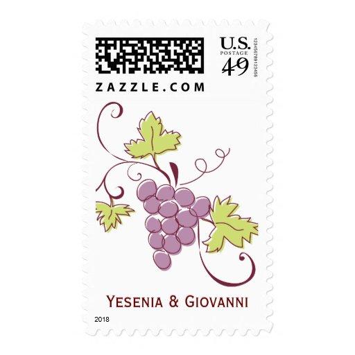 Grapevine Wedding Postage