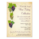 """Grapevine Wine Tasting Party Invitation 4.5"""" X 6.25"""" Invitation Card"""