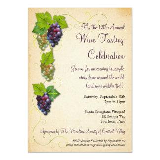 Grapevine Wine Tasting Party Invitation