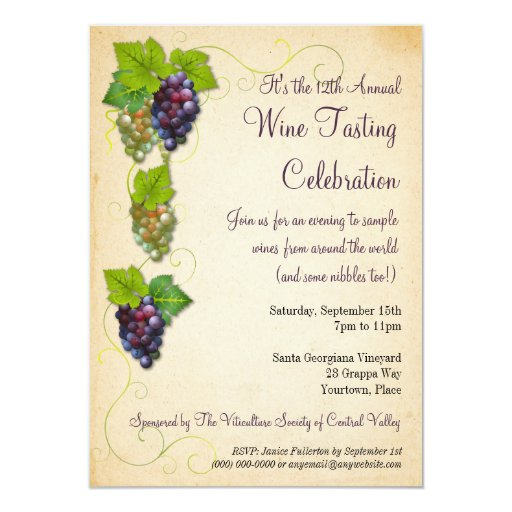 Wine invitation wording 28 images wine invitations features wine invitation wording grapevine wine tasting invitation zazzle stopboris Image collections