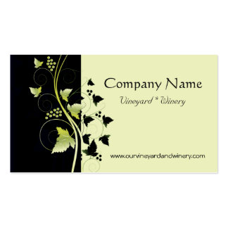Grapevine Winery Business Card Templates