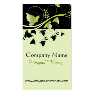 Grapevine Winery Double-Sided Standard Business Cards (Pack Of 100)