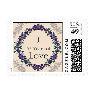 Grapevine Wreath Anniversary Love Stamp