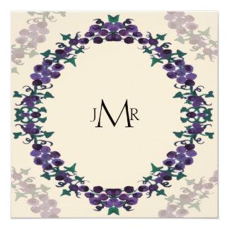 Grapevine Wreath Wedding Anniversary Personalized Invitation