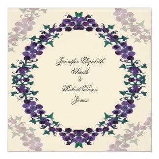 Grapevine Wreath Wedding Custom Announcements