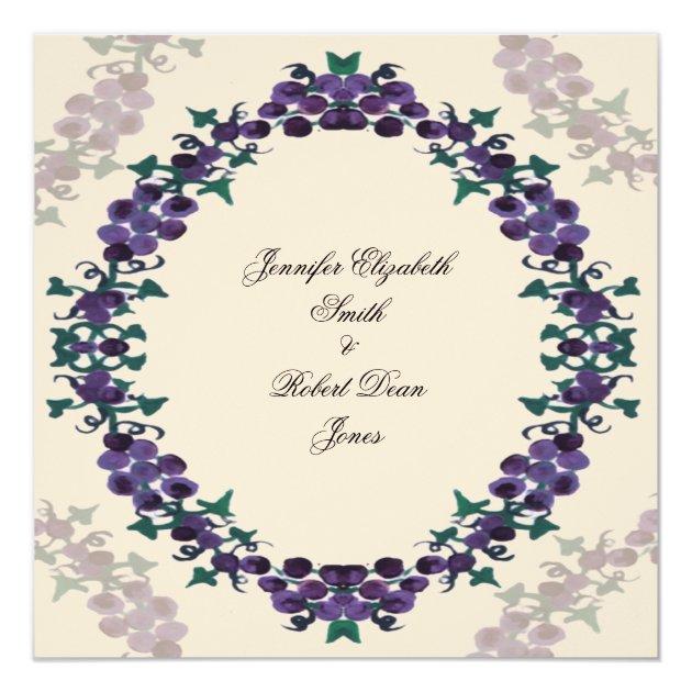 Grapevine Wreath Wedding Invitation | Zazzle