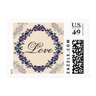 Grapevine Wreath Wedding Postage