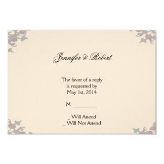 Grapevine Wreath Wedding Response Card Custom Invitation