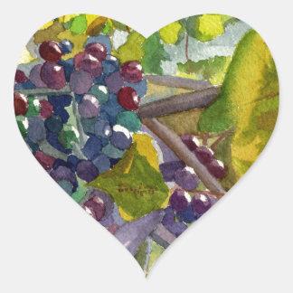 Grapevines Heart Sticker