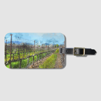 Grapevines in a Row in Napa Valley California Luggage Tag
