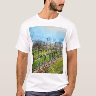 Grapevines in a Row in Napa Valley California T-Shirt