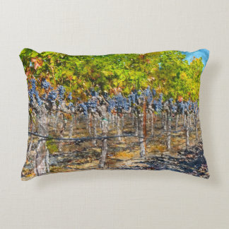 Grapevines in Napa Valley California Accent Pillow