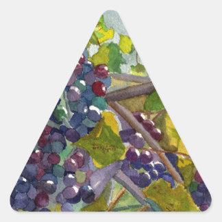 Grapevines Triangle Sticker