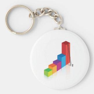 graph ladder personal challenge keychain