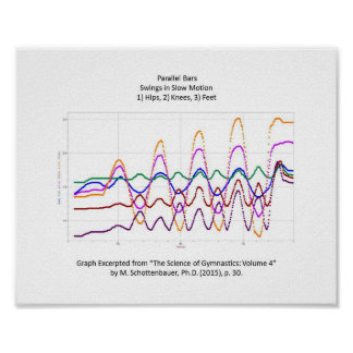 Graph of Swings on Parallel Bars Gymnastics Poster