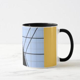Graph PAPER black trifishes yello SIRAdesign Mug