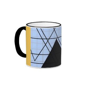 Graph PAPER black trifishes yello SIRAdesign Ringer Mug